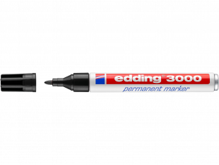 edding Permanentmarker 3000 schwarz Rundspitze 1,5-3 mm
