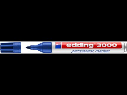 edding Permanentmarker 3000 blau Rundspitze 1,5-3 mm
