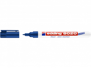 edding Hautmarker 8020 blau Rundspitze 1mm, zum Beschriften von Haut