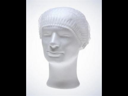 Damenhauben ECO PLUS aus Vliesstoff weiss, mit Gummizug, Grösse Ø51 cm,