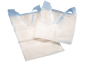 Schutzservietten TENA Bib, 37 x 68 cm mit Auffangtasche und Fixierbändern