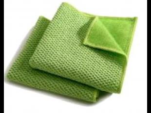 DuoPad Mikrofasertuch 40 x 40 cm, grün einseitig abrasiv, einseitig saugstark