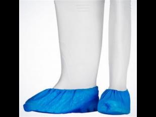 Überschuhe aus Polyethylen, blau, 15 x 42 cm, gehämmert