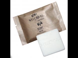 Welcome Soap, Seife quadratisch, 10 g in einem Sachetbeutel