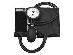 Blutdruckmessgerät Deluxe, schwarz, aneroid, 2-Schlauchsystem PVC