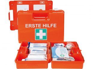 Verbandskoffer orange klein DIN13157