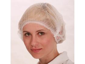 Damenhauben ECO PLUS aus Vliesstoff weiss, mit Gummizug, Grösse Medium