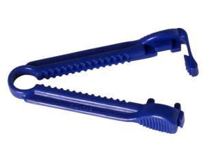 Schlauchklemme aus PP, unsteril Farbe: blau