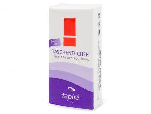 Taschentücher TAPIRA 4-lagig hochweiss 100% Zellstoff samtweich, 21 x 21 cm