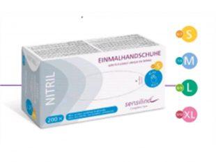 Handschuhe Sensilind, Nitrl, Grösse L, blau, puderfrei