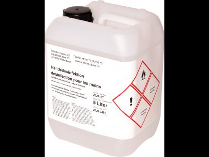 Händedesinfektionsmittel 5 Liter auf alkoholischer Basis, hautfreundlich