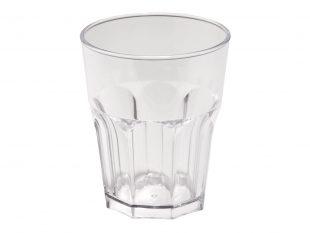 Wasserglas mehrweg, transparent Inhalt 290 cc aus Kunststoff