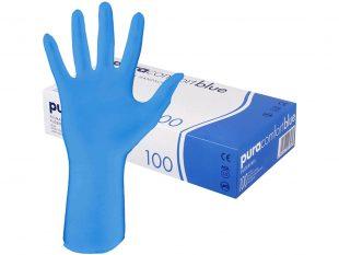"Handschuhe Nitril ""Pura Comfort"", puderfrei, blau"