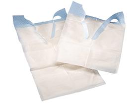 Schutzservietten Tena Bib, 37 x 68 cm aus Zellstoff und Polyethylen