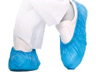 Überschuhe für Hygomat, ca. 60 my, aus Polyethylen (CPE), blau,