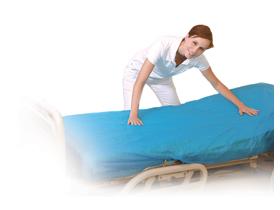 CPE-Matratzenschutz-Spannbezug 210 x 90 cm, blau