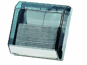 Falthandtuchspender transparent klein, für ca. 250 Handtücher,