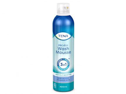 TENA Wash Mousse, 400 ml, 3-in-1-Schaum in einer Spraydose
