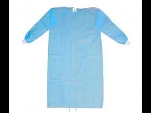 Einweg Schutzkittel 139 x 139 cm, blau, Ärmel mit Bund