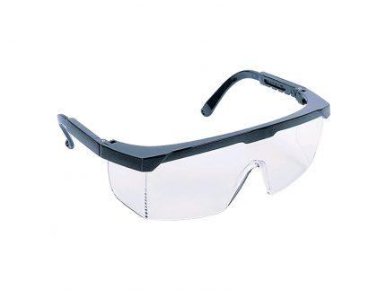Universal Schutzbrille, blau, beschlagfrei, längenverstellbare
