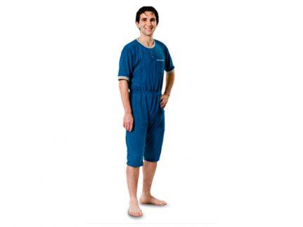 Patientenoverall Kurzarm/Bein dunkelblau