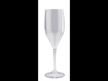 Sektglas mehrweg 150cc, transparent aus Kunststoff, 1dl geeicht