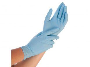 Nitril-Handschuhe Grösse XL, puderfrei, blau, Länge 24 cm