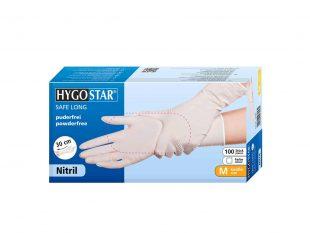 """Handschuhe Nitril """"SAFE"""" weiss, Grösse M, starke Qualität"""