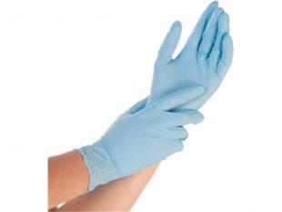 Nitril-Handschuhe Grösse S, puderfrei, blau, Länge 24 cm