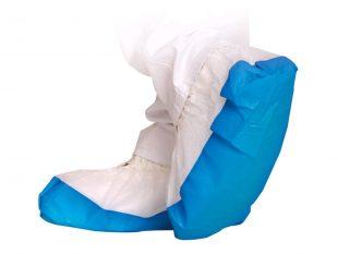 Überschuhe SAFE, PP 40 my, weiss-blau Grösse Länge 41 cm, griffige Sohle