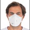 Atemschutzmaske / Feinstaubmaske FFP2 mit Ventil, PP, weiss, faltbar,