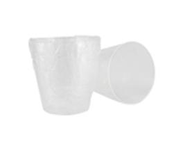 Zahnputz-Becher aus Plastik 200 ml einzeln in PE-Beutel eingeschweisst