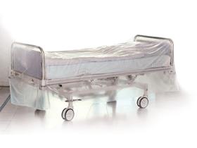 Bettenhülle HDPE auf Rollen transparent, perforiert à 320 cm