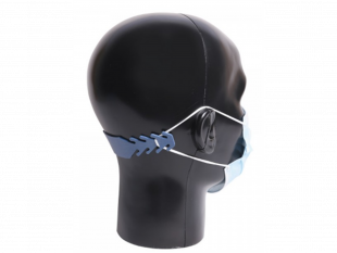 Maskenhalterung, detektierbar, blau mehrfach verwendbar, blauer Silikongummi