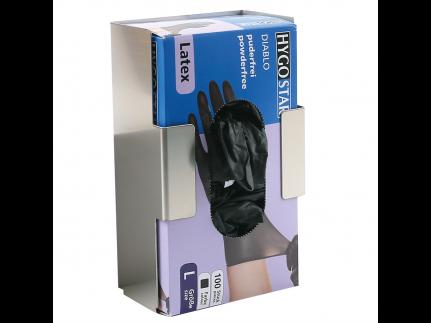 Handschuhspenderhalterung für 1 Dispenser, Edelstahl, rostfrei,