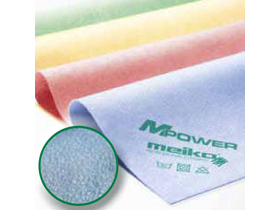 """MPower Microfasertücher, PU-beschichtet, blau, 40 x 40 cm """"Ledertuch"""", streifen-"""