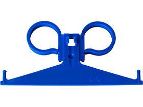 Urinbeutelaufhänger für das Bett, blau, aus Kunststoff