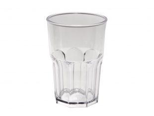 Wasserglas mehrweg, transparent Inhalt 400 cc aus Kunststoff
