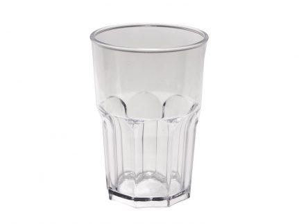 Wasserglas mehrweg, transparent Inhalt 425 cc aus Kunststoff