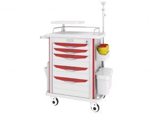 CARTIES Multifunktions-und Medikamenten- wagen Premium, 850 x 520 x 950 mm