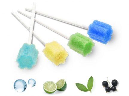 SWABBIES, Mundpflegestäbchen, Lemon, aus Schaumstoff, für Mundhygiene
