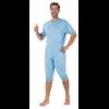 Patientenoverall Kurzarm/Bein hellblau