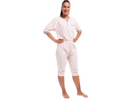 Patientenoverall Kurzarm/Bein rosa
