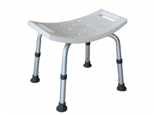 Bath Chairies without backrest, Dusch- hocker ohne Rückenlehne, weiss