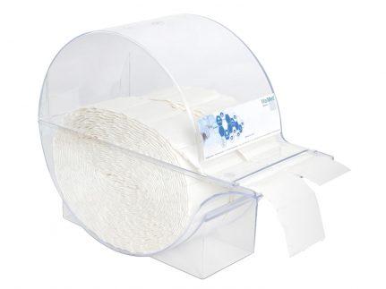 Spender zu Zellstoff-Tupfer aus Polystyrol, sehr standfest
