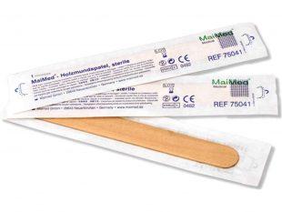 Holzmundspatel 15 x 1.8 cm, steril, einzeln in einer Spenderbox verpackt