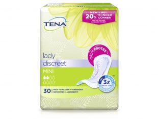 Tena Lady Discreet Mini, Dreifachschutz, mit Odour Control