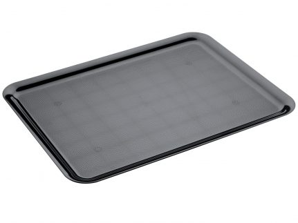 Servierplatte aus Kunststoff 370 x 500 mm, schwarz