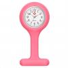 Schwesternuhr aus Silikon, rosa, ø 4 cm rund, 8 cm lang