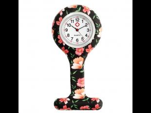 """Schwesternuhr aus Silikon, """"Flowers"""", ø 4 cm, 8 cm lang"""